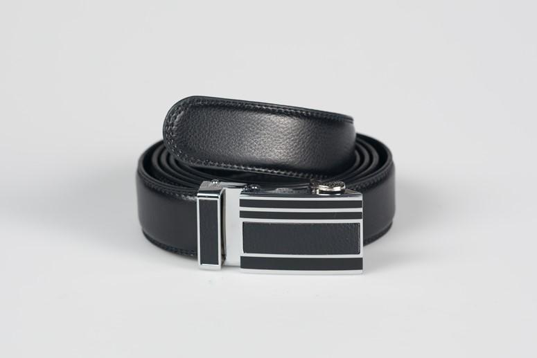 čierny kožený opasok s automatickou prackou 9527fade9fc